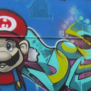 Super Mario wall